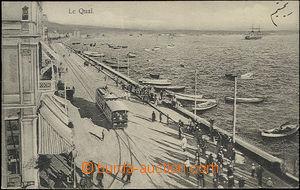 50177 - 1909 Thessaloniki (Soluň) - quay with tram; Us to Bohemia,