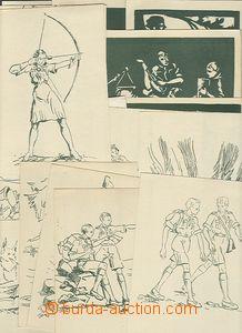 50181 - 1938 Junácké motivy od V. Fanderlíka, kompletní sestava 10ks