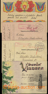 50212 - 1942-43 comp. 4 pcs of cards sent by FP with CDS FP No.6 + f