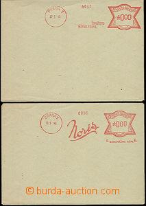 50227 - 1945 2 pcs of envelopes with zkouškami meter stmp (nulové
