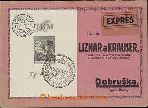 50231 - 1938 reklamní 2lístek zaslaný Ex do Dobrušky, vyfr. čs.