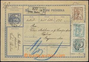 50261 - 1919 postalstationary - parcel card1 complete (!) overdue po