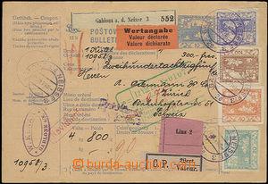 50262 - 1919 postalstationary - parcel card11, complete overdue inte