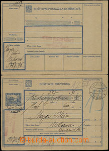 50270 - 1921 CDP6A  complete Us C.O.D. dispatch-note with partially