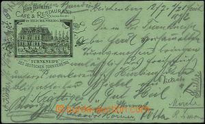 50296 - 1892 Liberec - additional printing Ferd. Hoffmann's Café & R