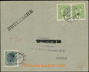 50316 - 1918 letter as printed matter sent from Wien (Vienna) to Brn