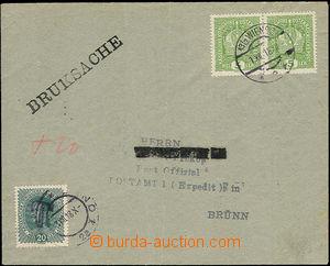 50316 - 1918 dopis jako tiskopis zaslaný z Vídně do Brna, v míst