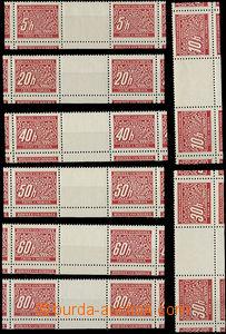 50326 - 1939 Pof.DL1-14M Doplatní, meziarší řezaná 2známková,