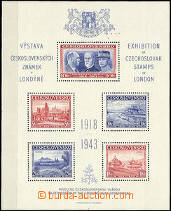 50333 - 1943 Londýnský aršík, kat. 500Kč