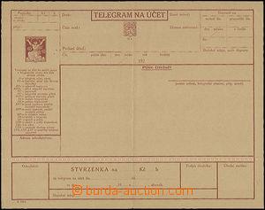 50340 - 1924 CTÚ3, perforace 5½,  kompletní blanket telegra
