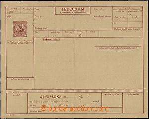 50342 - 1927 CTÚ4Aa, perforace 11½, kompletní blanket teleg