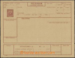 50347 - 1927 CTÚ4Ab, perforace 5½, kompletní blanket telegram