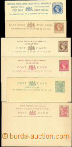 50395 - 1890 BRITISH COLONIES  sestava 6ks dopisnic, 2x British Indi