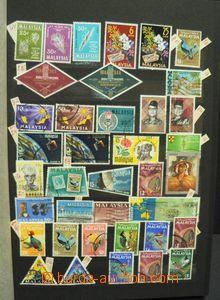 50399 - 1890-1970 MALAYSIA  menší sbírky malajských států v 8l