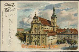50428 - 1898 Brno - St. Thomas, lithography; long address, Us, very