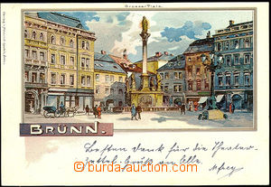 50431 - 1898 Brno - Grosser Platz (Square), lithography; long addres