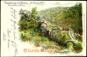 50432 - 1899 Adamov - Josefské valley, lithography; long address, Us