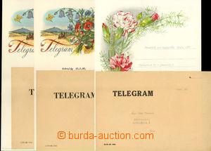 50438 - 1956-57 comp. 3 pcs of Us decorative telegrams with imprint