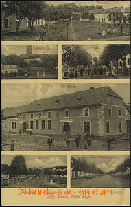 50453 - 1909 Otaslavice - 6-view, restaurant Bártů, village square