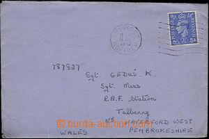 50467 - 1942 dopis adresovaný čsl. příslušníkovi 311. bombardo
