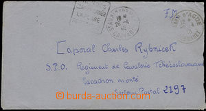 50472 - 1940 letter addressed to Czechosl. soldier by/on/at cavalry,
