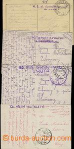 50479 - 1919 4x pohlednice s různými útvarovými razítky (mj. 2x