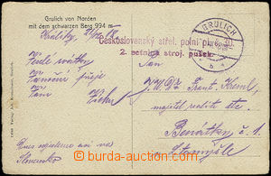 50485 - 1918 postcard sent by FP, CDS Grulich/ 21.XII.18, military u
