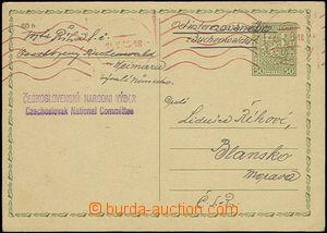 50506 - 1945 KT BUCHENWALD  dopisnice CDV65 odeslaná z osvobozeného