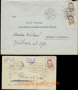 50507 - 1949-51 2 letters addressed to to same prisoner to work divi
