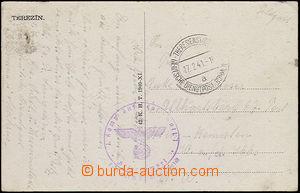 50511 - 1941 pohlednice s razítkem DDP BuM Theresienstadt a/ 17.2.4
