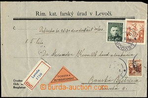 50533 - 1942 registered + cash on delivery, letter of the Pharish Of