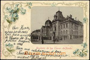 50536 - 1902 Chaux de Fonds (CH) - synagogue; long address, Us, good