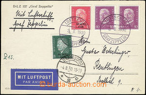 50543 - 1930 DEUTSCHLAND (GERMANY)  photo postacard Zeppelin sent fl