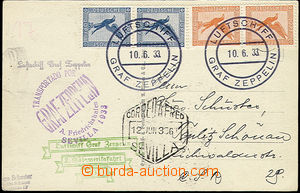 50551 - 1930 DEUTSCHLAND (GERMANY)   photo postcard Zeppelin sent fl