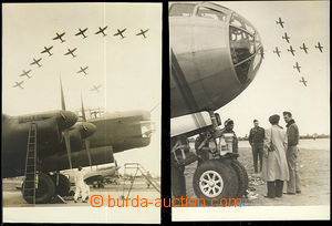 50553 - 1946 2 pcs of  B/W photos from I. International air show in
