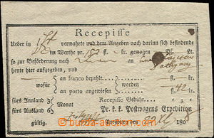 50555 - 1808 receipt printed, with post off. Pressburg, significant