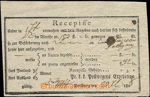 50555 - 1808 recepis tištěný, s názvem pošty Pressburg, výrazn