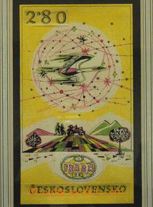50568 - 1962 LIESLER J.: nepřijatý návrh na poštovní zn. emise PRAGA