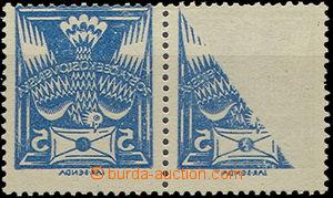 50589 - 1920 Pof.143 in a horizontal 2stripe, with machine set-off,