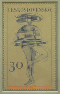 50620 - 1961 STRNAD I.: nepřijatý návrh na zn. emise Sport hodnoty 3