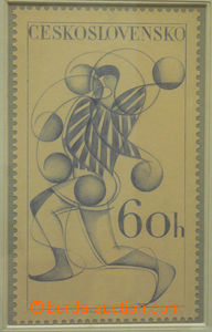50621 - 1961 STRNAD I.: nepřijatý návrh na zn. emise Sport hodnoty 6