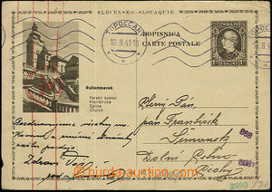 50656 - 1941 Alb.CDV4/5 Ružomberok, sent to Bohemia-Moravia, MC Top
