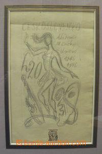 50661 - 1976 BOUDA C.: přijatý návrh na zn. 20h Výročí AMU, Po