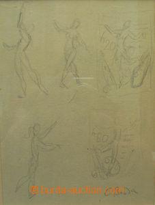 50662 - 1976 BOUDA C.: skica - přijatý návrh na zn. 20h Výročí