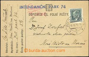 50672 - 1938 dopisnice čs. PP vyfrankovaná zn. 50h Beneš, DR Polní p