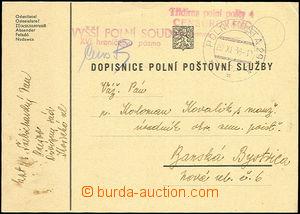 50673 - 1938 dopisnice polní poštovní služby s DR PP 29/ 20.XI.38, ř