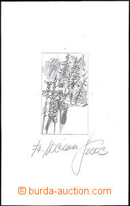 50728 - 2003 plate proof with signature of engraver Fr. Horniak