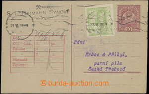 50778 - 1918 forerunner Austrian. PC 10h Coat of arms uprated with s