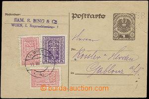 50785 - 1924 AUSTRIA  dopisnice Mi.P245 s perfinem SSB/ &C dofr. v i