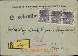 50788 - 1931 AUSTRIA  firemní R dopis zaslaný do Polska vyfr. 3-p�